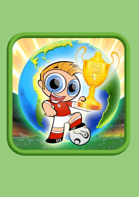 giocatore che tiene in mano una coppa WORLD